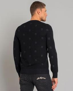 Wełniany sweter w czaszki