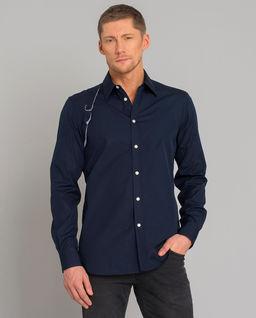 Granatowa koszula z bawełny