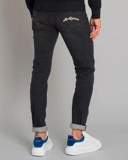 Czarne jeansy z logo