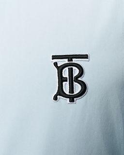 Jasnoniebieska koszula z logo