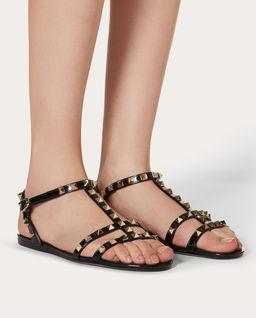 Czarne sandały Rockstud