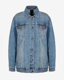 Jeansowa kurtka z printem