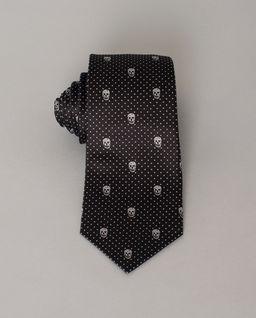 Jedwabny krawat w czaszki