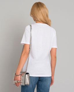 Biały t-shirt z czaszką