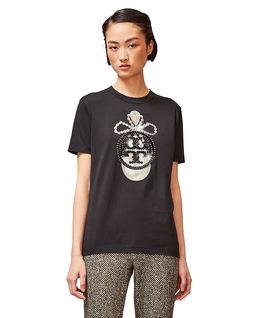 Czarny t-shirt z cekinami