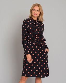 Sukienka midi w grochy