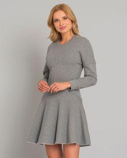 Szara sukienka z bawełny