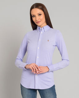 Fioletowa koszula Slim Fit