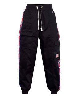 Czarne spodnie cargo