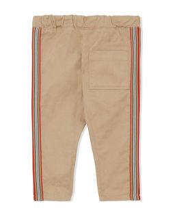 Beżowe spodnie z lampasem 0-2 lat