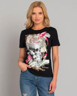 Czarny t-shirt z czaszką