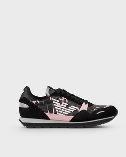 Sneakersy Camo z zamszem