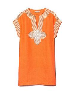 Pomarańczowa tunika z lnu