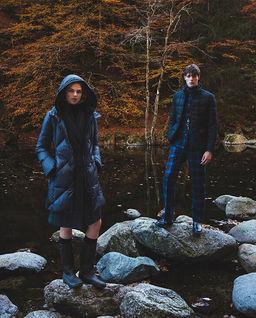 Puchowy płaszcz