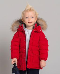 Czerwona kurtka puchowa Esparron 0-3 lata