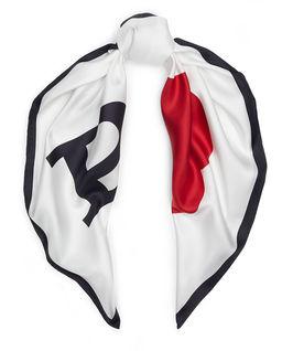 Jedwabna apaszka z logo