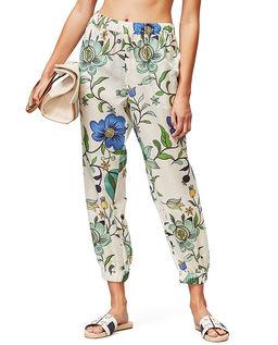 Spodnie z kwiatowym wzorem
