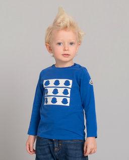 Niebieska koszulka z logo 0-2 lat