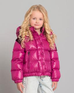 Różowa kurtka puchowa 6-12 lat