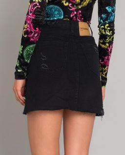 Czarna jeansowa spódnica