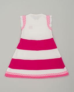 Sukienka w różowe pasy