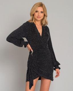Błyszcząca sukienka z aplikacją Parisa