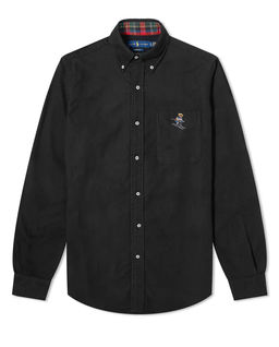 Czarna koszula z misiem