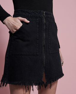 Czarna jeansowa spódnica Vixen