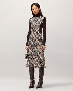 Tweedowa sukienka
