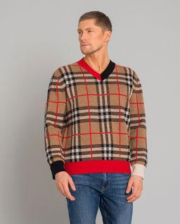 Sweter w kratę