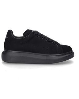 Czarne sneakersy z aksamitu