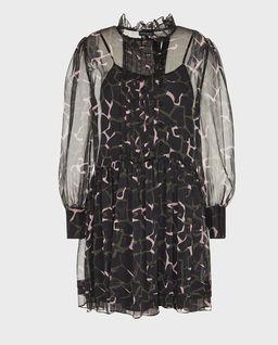 Szyfonowa sukienka moro