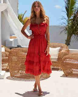 Czerwona sukienka Bethan