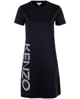 Černé šaty s logem