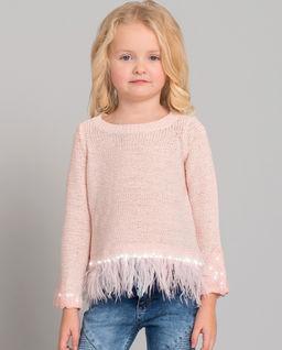 Sweter z piórami