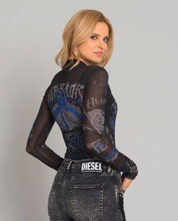 Czarna bluzka z printem