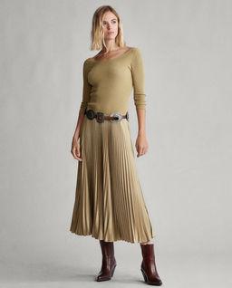 Plisované midi šaty