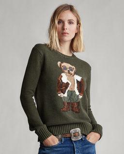 Vlněný svetr s medvídkem