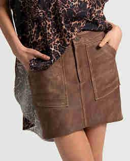 Skórzana spódnica Vintage Voyager