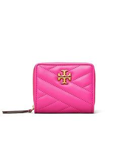 Różowy portfel Kira Chevron