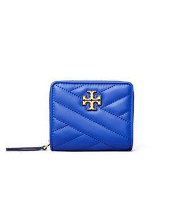 Niebieski portfel Kira Chevron