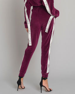 Aksamitne spodnie dresowe