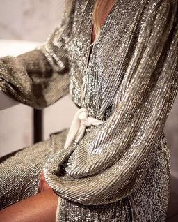 Stříbrné šaty s flitry