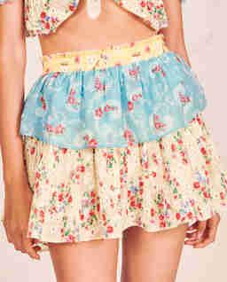 Kolorowa spódnica mini