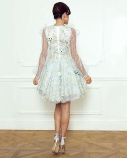 Jedwabna sukienka z haftem La Vie