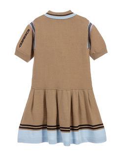 Beżowa sukienka polo 3-12 lat