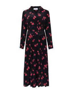 Jedwabna sukienka w róże Bastia