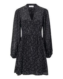 Czarna sukienka z jedwabiu Moscou