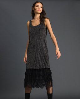 Sukienka z cekinami i tiulem