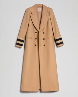 Dwurzędowy wełniany płaszcz